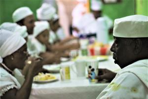 Almoço da comunidade no Terreiro